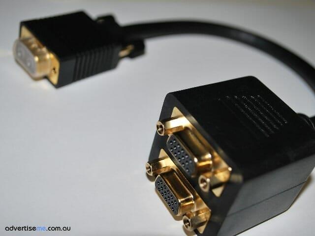 2 way VGA cable