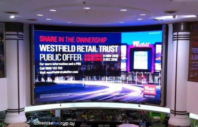 LED Screen Westfield Pitt Street Mall