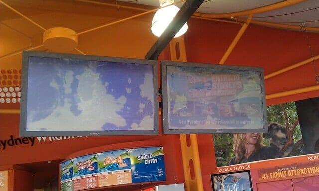 Digital Signage Sydney Wildlife LCD Screens