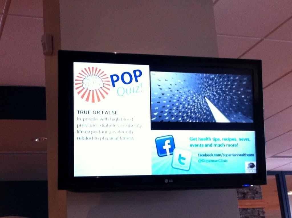 digital signage medical centre