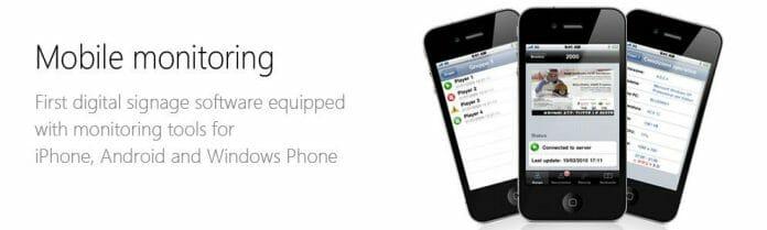 Web Signage Mobile App