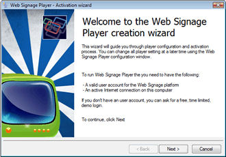 web signage wizard player