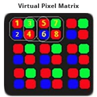 Virtual pixel with background
