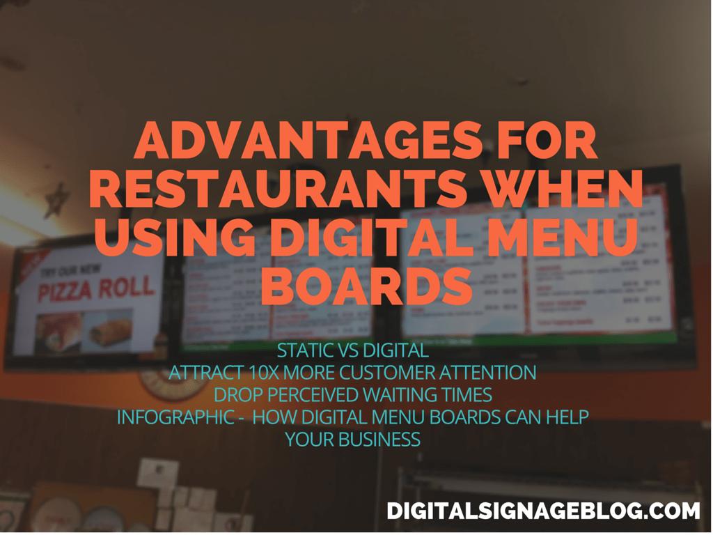 Advantages For Restaurants When Using Digital Menu Boards