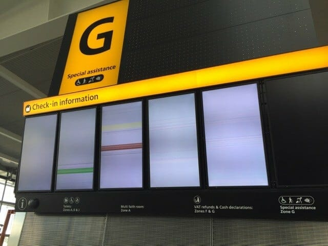 Digital Signage Fail - Lets Fly Away 10