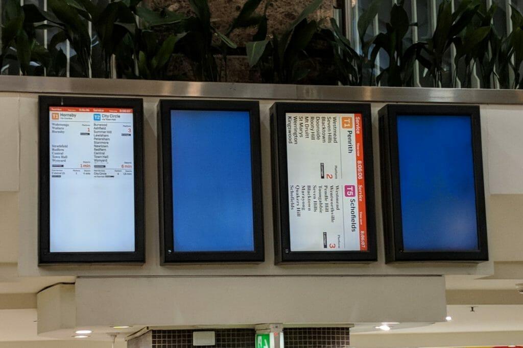 Digital Signage Blog - Fail Train Timetable