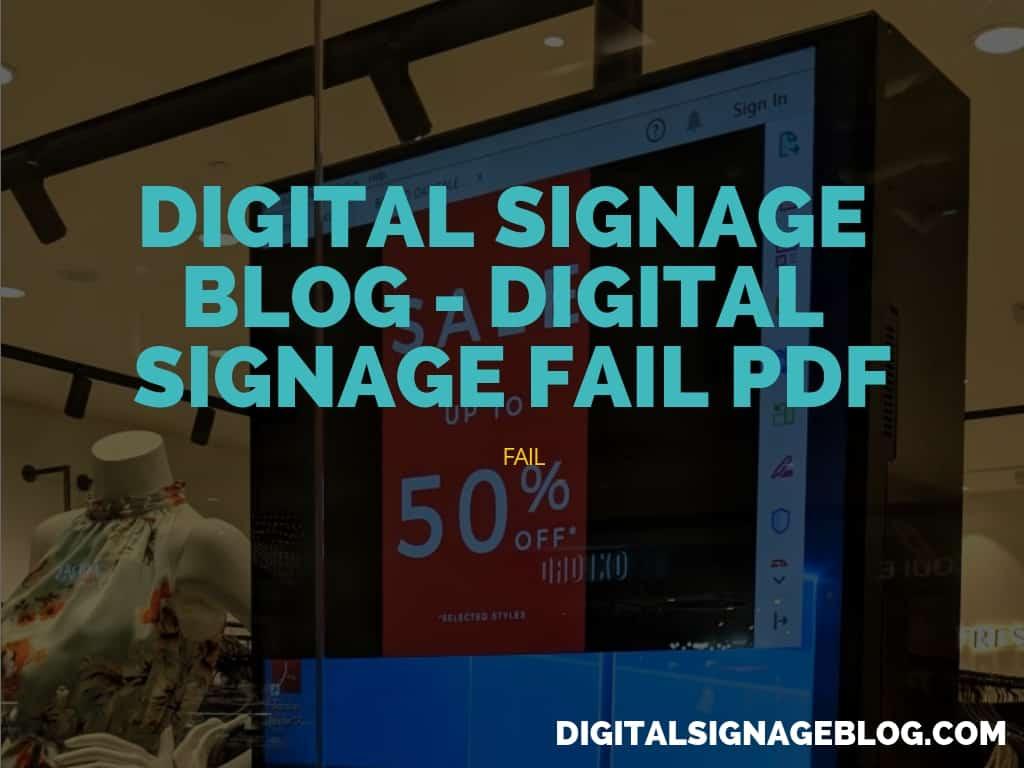 Digital Signage Blog - Digital Signage Fail - PDF header